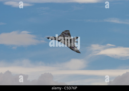 A Vulcan bomber at the Royal International Air Tattoo at Fairford. - Stock Photo