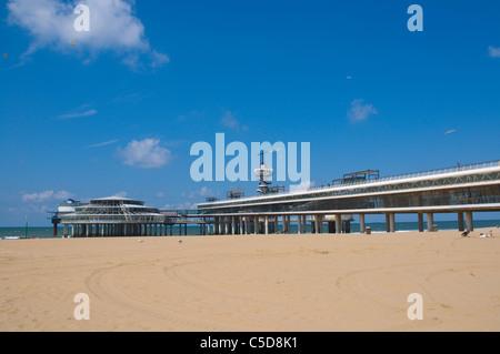 Scheveningen beach Den Haag the Hague province of South Holland the Netherlands Europe - Stock Photo