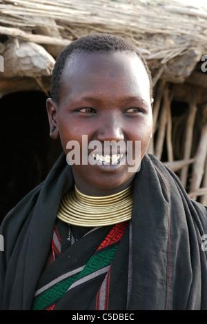 TANZANIA Watatulu tribe of Miyuguyu, Shinyanga district. Young woman. photograph by Sean Sprague - Stock Photo