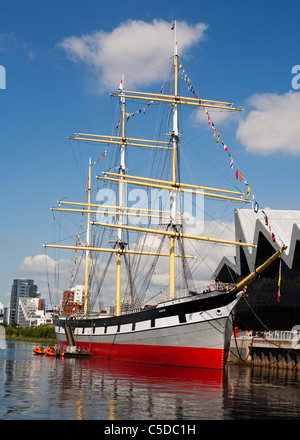 The Glenlee tall ship moored at Glasgow's Riverside Museum, Pointhouse quay, Scotland. - Stock Photo