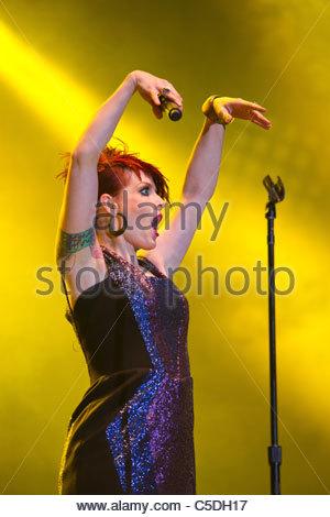Scissor Sisters performing live - Ana Matronic - Stock Photo