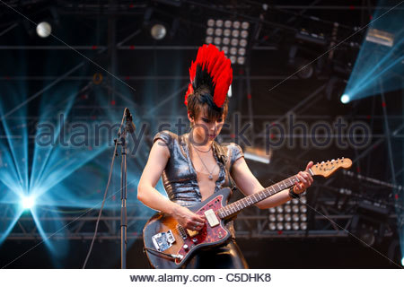 Mademoiselle K performing live - Stock Photo