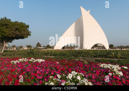 Elk204-1058 Bahrain, Manama, downtown, Sail Monument - Stock Photo