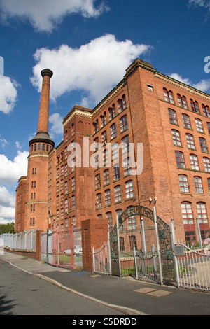 Victoria Mills (1867  + 1873) on Rochdale Canal, Miles Platting, Manchester, UK. Now residential, business and educational - Stock Photo