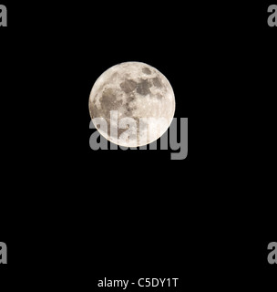 Close-up of a moon against dark sky - Stock Photo