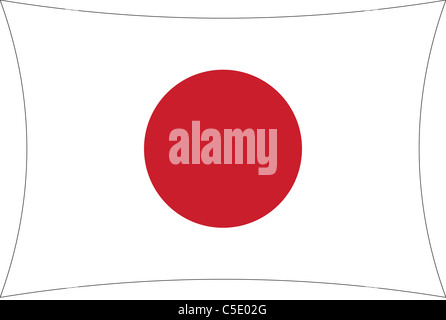 Japan flag illustration - exclusive to Alamy - Stock Photo