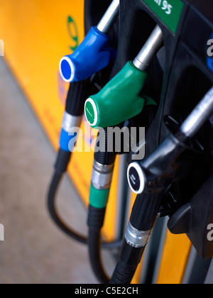 Detail shot of gasoline station - Stock Photo