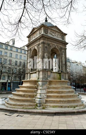 Fontaine des Innocents, Paris, France - Stock Photo