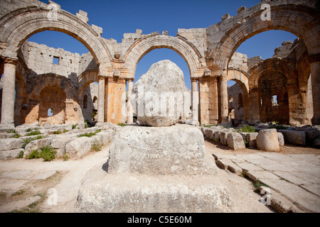 St Simeon's rock, near Aleppo, Syria - Stock Photo