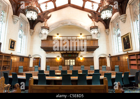 Courtroom 1 of The Supreme Court of the United Kingdom, London, UK - Stock Photo