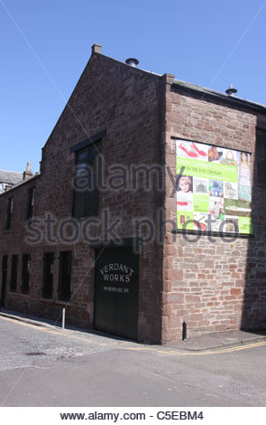 exterior of Verdant Works Jute Mill Museum Dundee Scotland July 2011 - Stock Photo