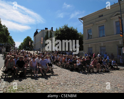 Scandinavia Finland Pori Jazz festival - Stock Photo