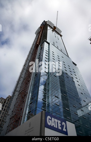 new four seasons private residences tower under construction toronto ontario canada - Stock Photo