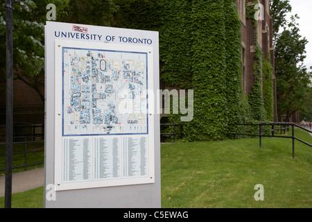 university of toronto campus map toronto ontario canada - Stock Photo