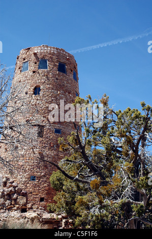 The Desert View Watchtower was one of the structures in the Grand Canyon designed by Mary Colter for the Fred Harvey - Stock Photo