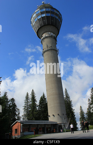 Puijo Tower Kuopio, Finland - Stock Photo