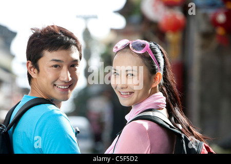 Young Couple Off Exploring, Dali - Stock Photo