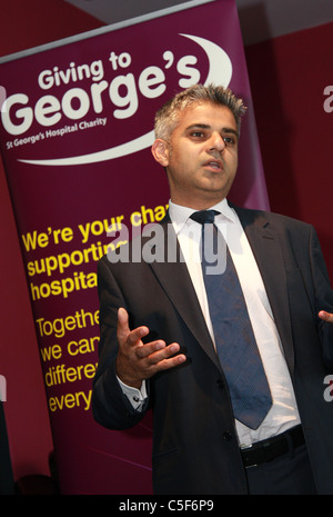 Sadiq Khan MP Labour. London Mayor 2016 - Stock Photo