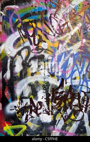 Street art, Hosier lane, Melbourne, Victoria, Australia - Stock Photo