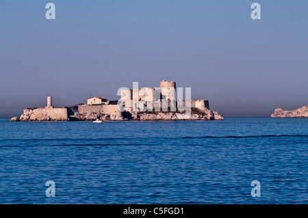 Chateau d'If in Marseilles bay area (France) - Stock Photo