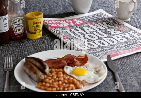 The last ever copy of tabloid newspaper News of The World. Sunday 10th July 2011 - Stock Photo