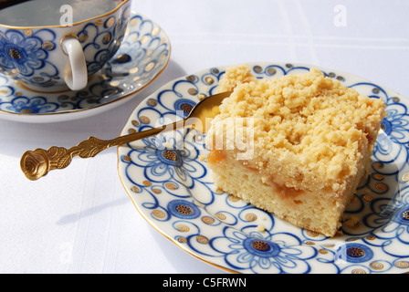 morning with coffee and cake - Stock Photo
