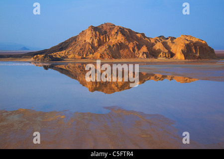 Lake logipi is a saline alkaline lake that lies in the Suguta valley in northen Kenya - Stock Photo