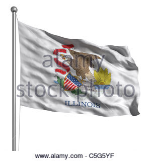 4718567e188 Flag of Illinois. Rendered with fabric texture (visible at 100 Stock Photo   37849939 - Alamy