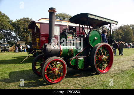 1918 Aveling & Porter traction engine Joanne at YesterYear Rally 2006 at Hampton Malpas Cheshire England - Stock Photo