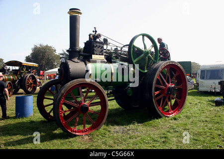 1913 Clayton & Shuttleworth agricultural traction engine at YesterYear Rally 2006 at Hampton Malpas Cheshire England - Stock Photo