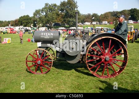 1919 International Titan tractor at 2006 YesterYear Rally Hampton Malpas Cheshire England - Stock Photo
