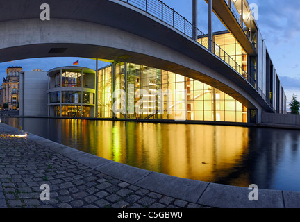 Paul-Loebe-Haus building, Parliament of Germany and the Reichstag building, Regierungsviertel district, Berlin, - Stock Photo