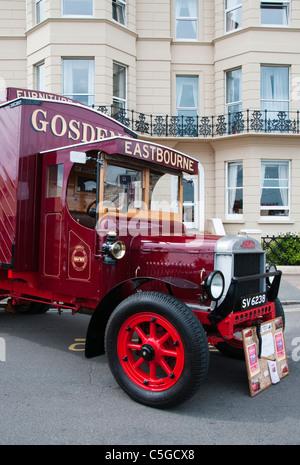 Vintage Leyland van, Eastbourne, UK - Stock Photo