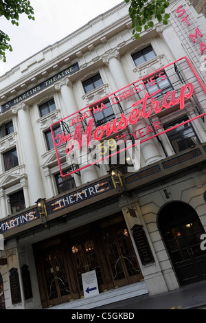 ST MARTINS THEATRE,viewed here in West Street currently showing the world`s longest running play MOUSETRAP by Agatha - Stock Photo