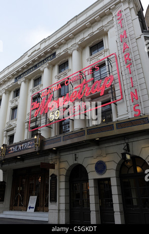 ST MARTINS THEATRE,situated in the West End the current production is Mousetrap,the world`s longest running production. - Stock Photo