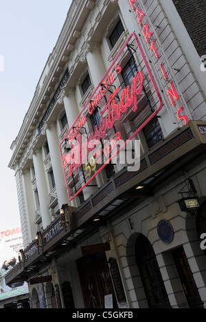 ST MARTINS THEATRE,bright red neon lights indicate Agatha Christie`s MOUSETRAP,the world`s longest running play. - Stock Photo