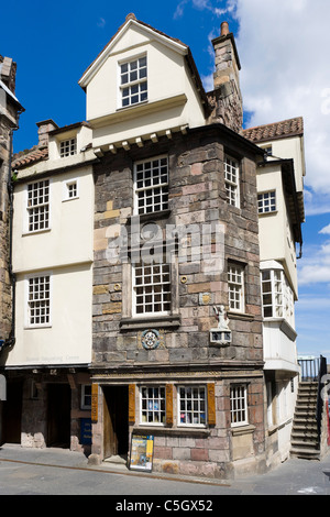 Historic 15thC 'John Knox House', The Scottish Storytelling Centre, Canongate, The Royal Mile, Edinburgh, Scotland, - Stock Photo