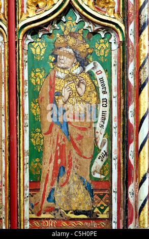 Thornham, Norfolk, rood screen, Prophet Hosea  Old Testament Prophets All Saints Church England UK English medieval - Stock Photo