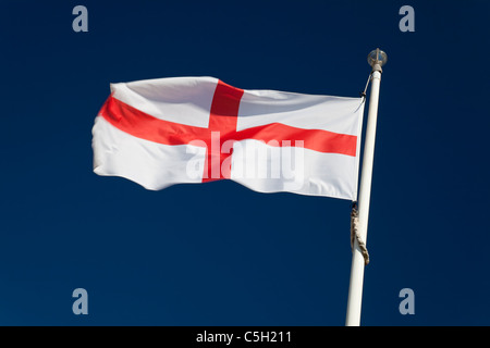 Flag of St George (National flag of England) - Stock Photo