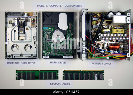 Modern Computer Components - Stock Photo