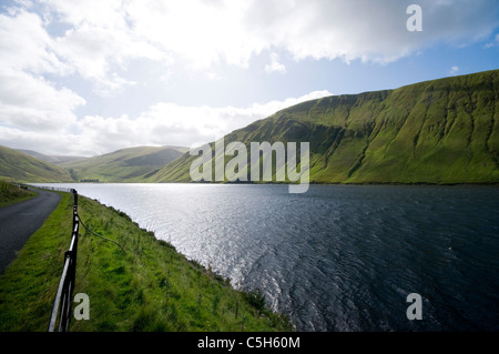 Talla Reservoir from roadside - Stock Photo