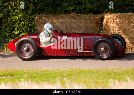 Pre-War Formula One cars at the Goodwood Festival of Speed 2011 - Stock Photo