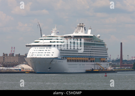 Royal Caribbean cruise ship Explorer of the Seas docked at the Cape Liberty Cruise Port in Bayonne, New Jersey. - Stock Photo