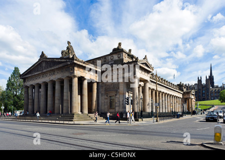 The National Gallery of Scotland viewed from Princes Street, Edinburgh, Scotland, UK - Stock Photo