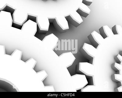 Gear wheels, computer artwork - Stock Photo