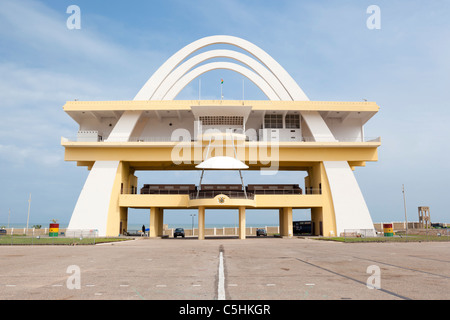 Independence Arch in Independence Square. Accra, Ghana - Stock Photo