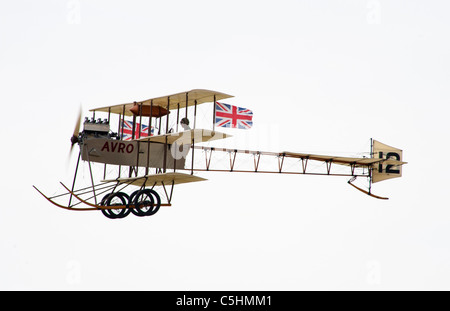 Avro Triplane, part of the Shuttleworth Collection, Bedfordshire. - Stock Photo