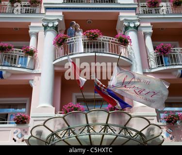 HR - GULF OF KVAMER: Hotel Mozart in Opatija - Stock Photo