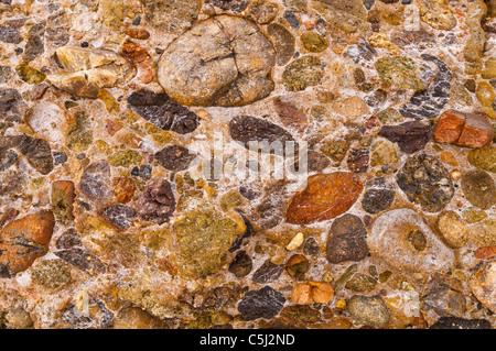 Rock patterns on Weston Beach, Point Lobos State Reserve, Carmel, California - Stock Photo
