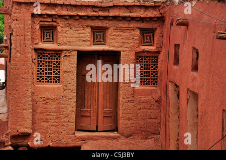 Abyaneh is a famous historic Iranian village near the city of Natanz in Isfahan, Iran characterized by a peculiar - Stock Photo